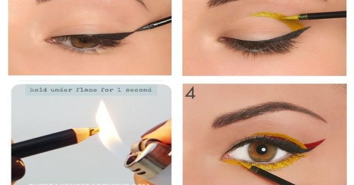 Tips de Maquillaje - Quema la punta del delineador con un encendedor